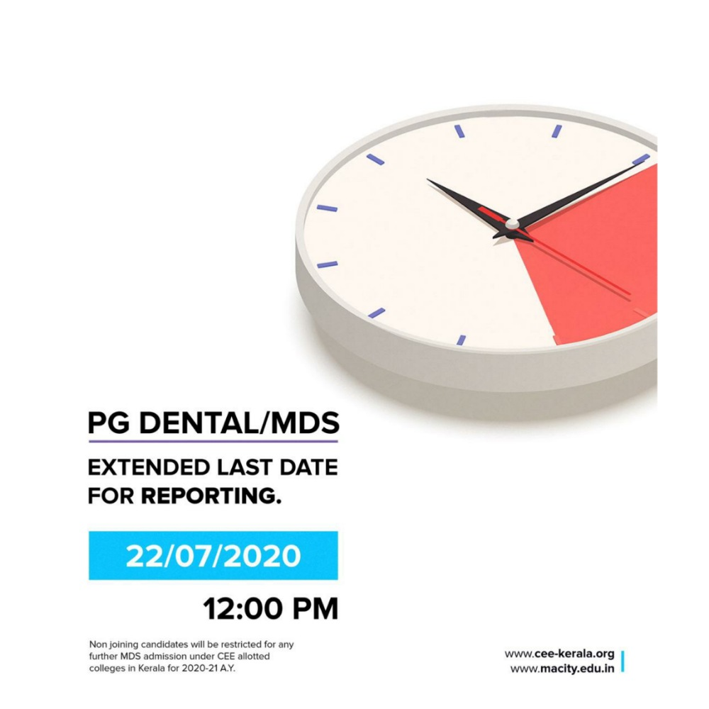DENTAL PG/MDS EXTENDED LAST DATE FOR REPORTING