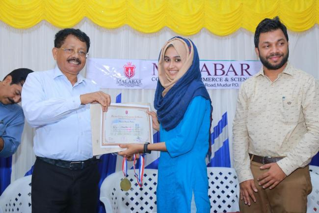 Course completion certificate issuing ceremony